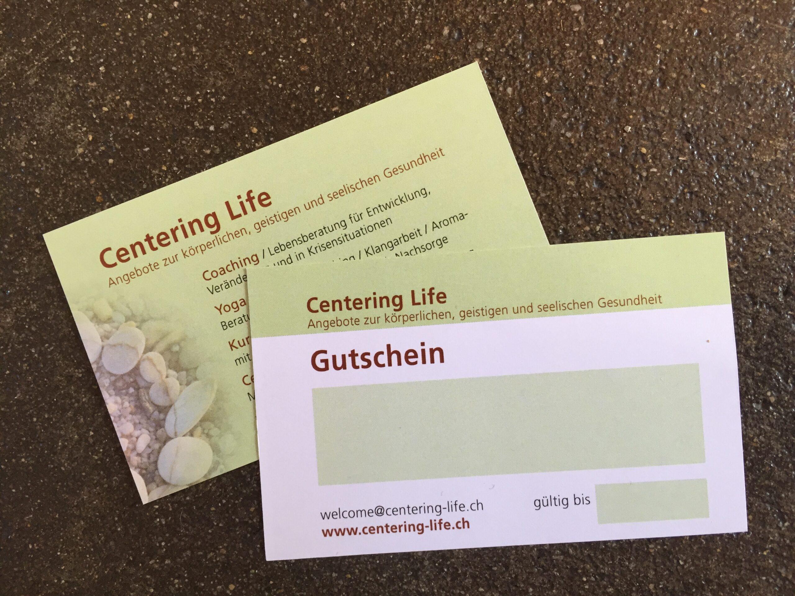 Gutschein Centering Life